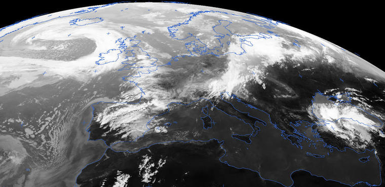 Meteosat MPE, real time weather image from meteorological satellite