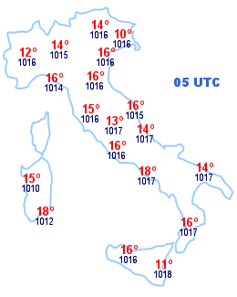 Cartina Italia 05 UTC
