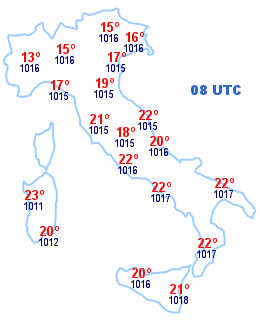 Cartina Italia 08 UTC