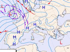 Euroweather The Weather Charts Of Italy Europe And Mediterranean